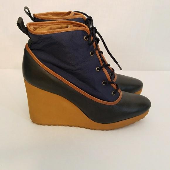 55a1bf85c L.L. Bean Shoes   Ll Bean Duck Trap Wedge Rain Ankle Boots   Poshmark